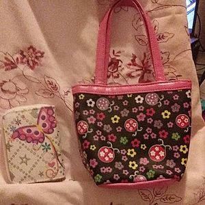 Small tote w/ a butterfly wallet